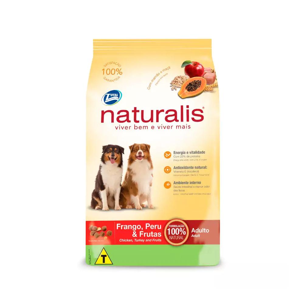 Ração Naturalis para Cães Adultos Sabor Frango, Peru e Frutas 2kg