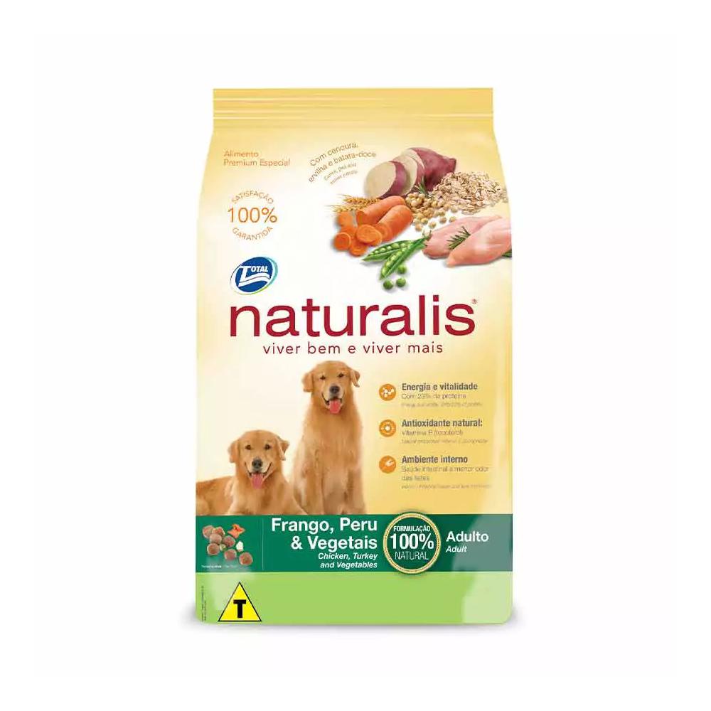 Ração Naturalis para Cães Adultos Sabor Frango, Peru e Vegetais 15kg