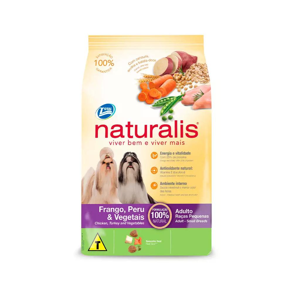Ração Naturalis para Cães Adultos Raças Pequenas Sabor Frango, Peru e Vegetais 2kg