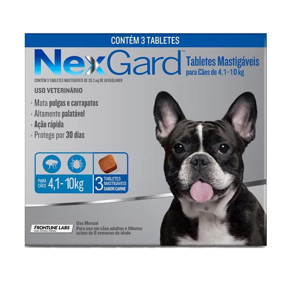 NEXGARD M 4,1KG A 10KG - 1,25G (COMBO 3)