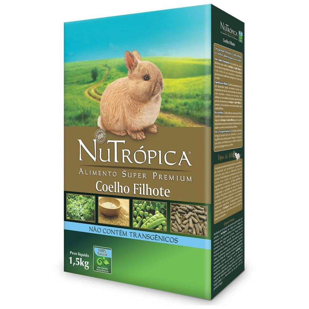 NUTRÓPICA COELHO NATURAL FILHOTE 1,5KG
