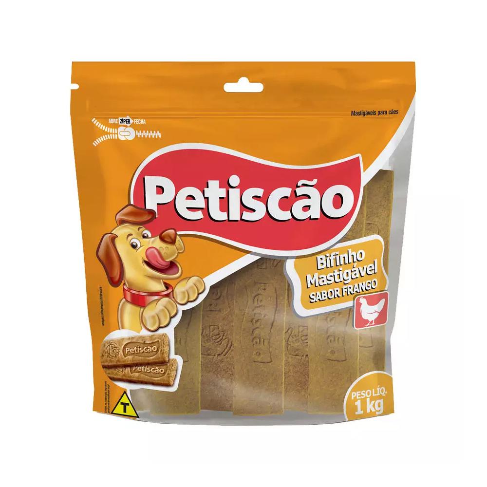 OSSO PETISCÃO BIFINHO TABLETE FRANGO 1KG
