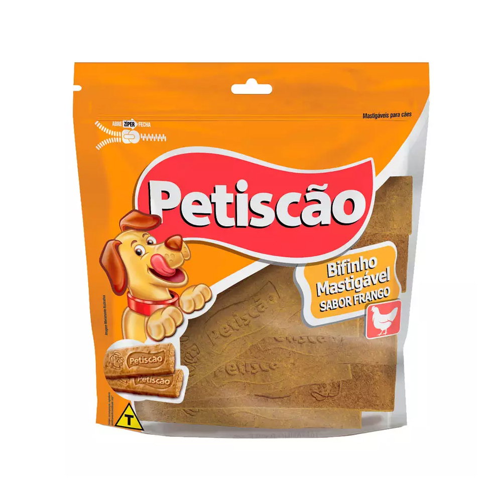 OSSO PETISCÃO BIFINHO TABLETE FRANGO 500G