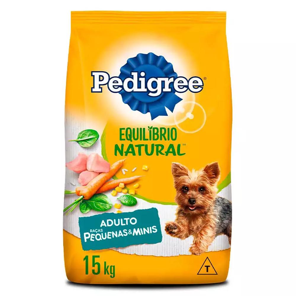 Ração Pedigree Equilíbrio Natural para Cães Adultos de Raças Pequenas e Minis 15kg