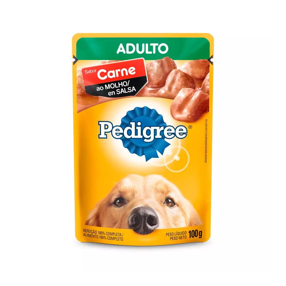 PEDIGREE SACHÊ CARNE AO MOLHO SENIOR 100G