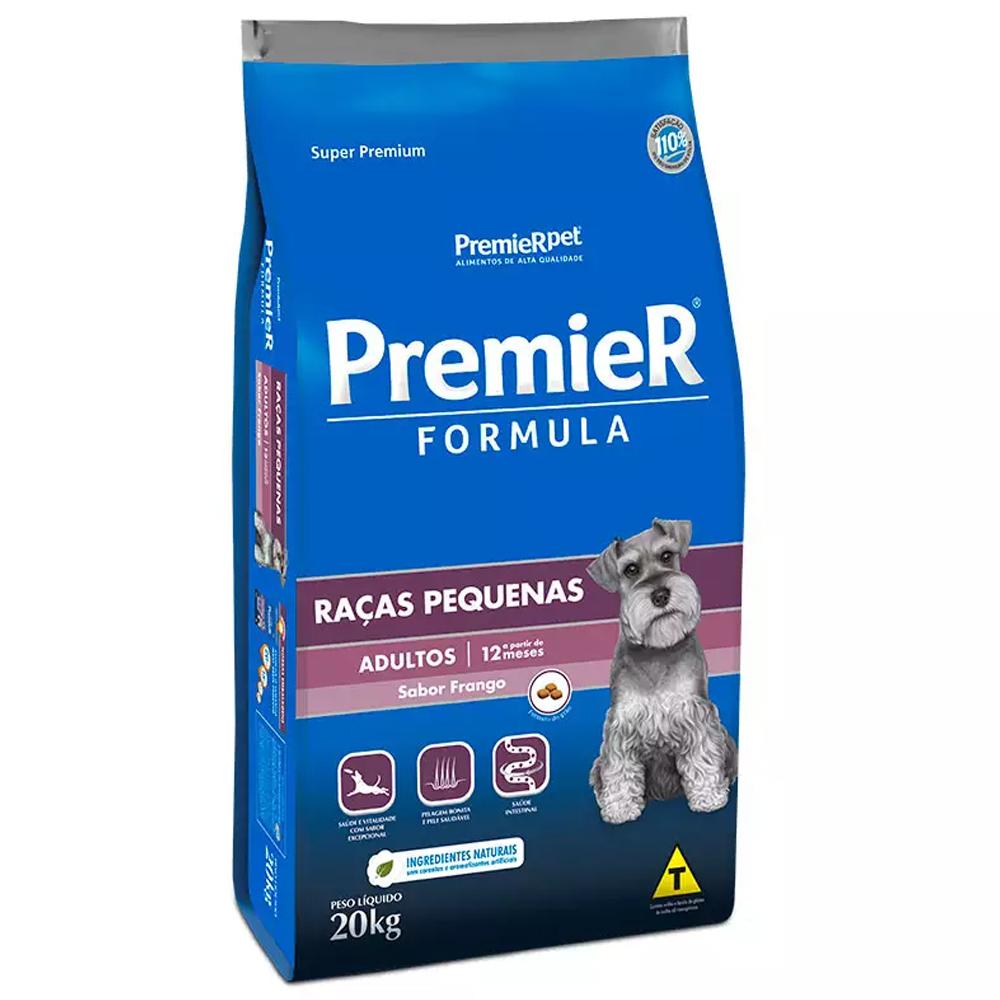 Ração Premier Fórmula para Cães Adultos de Raças Pequenas Sabor Frango 20kg