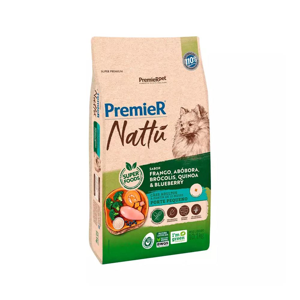 PREMIER NATTU CÃES ADULTO RAÇAS PEQUENAS ABÓBORA 10,1 KG