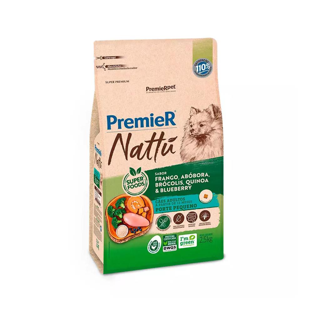 PREMIER NATTU CÃES ADULTO RAÇAS PEQUENAS ABÓBORA 2,5 KG