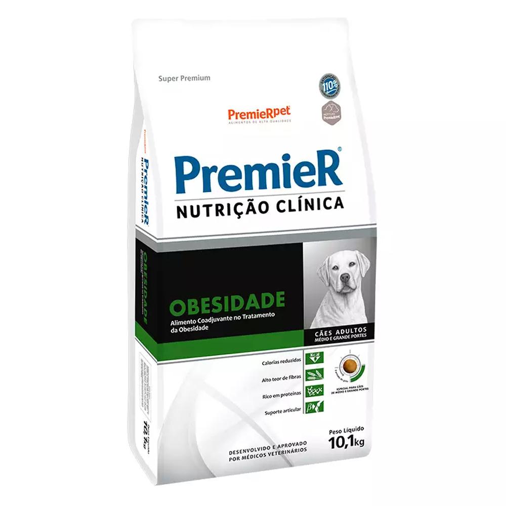 Ração Premier Nutrição Clínica Obesidade para Cães Adultos Médio e Grande Porte 10,1kg