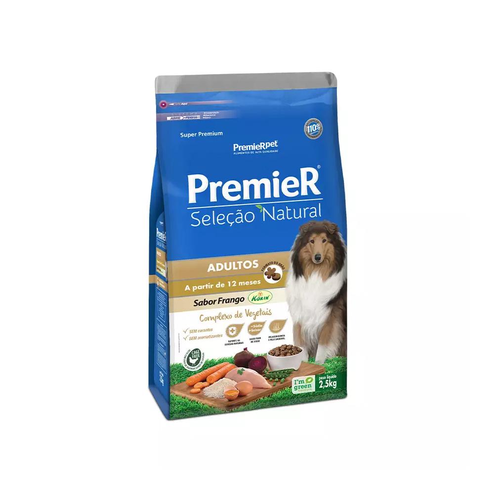 Ração Premier Seleção Natural para Cães Adultos Sabor Frango 2,5kg
