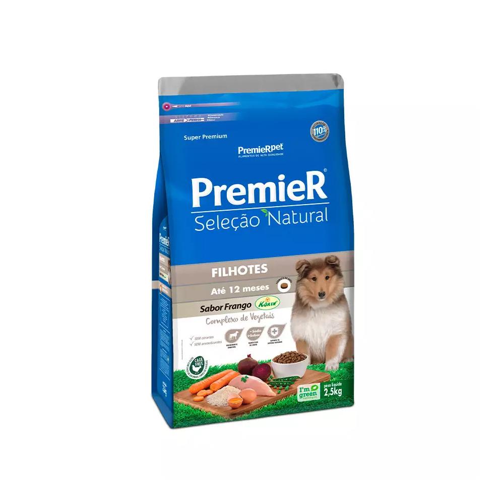 Ração Premier Seleção Natural para Cães Filhotes Sabor Frango 2,5kg