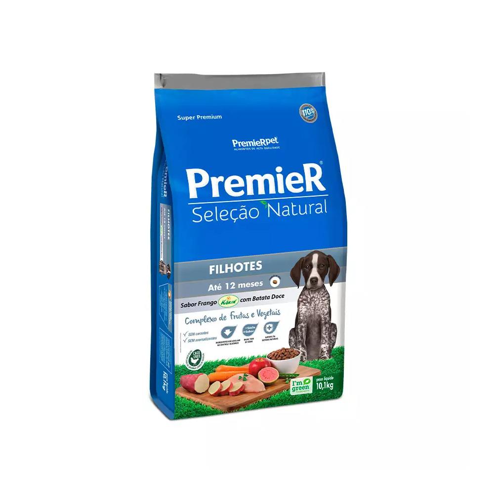 Ração Premier Seleção Natural para Cães Filhotes Sabor Frango com Batata Doce 10,1kg