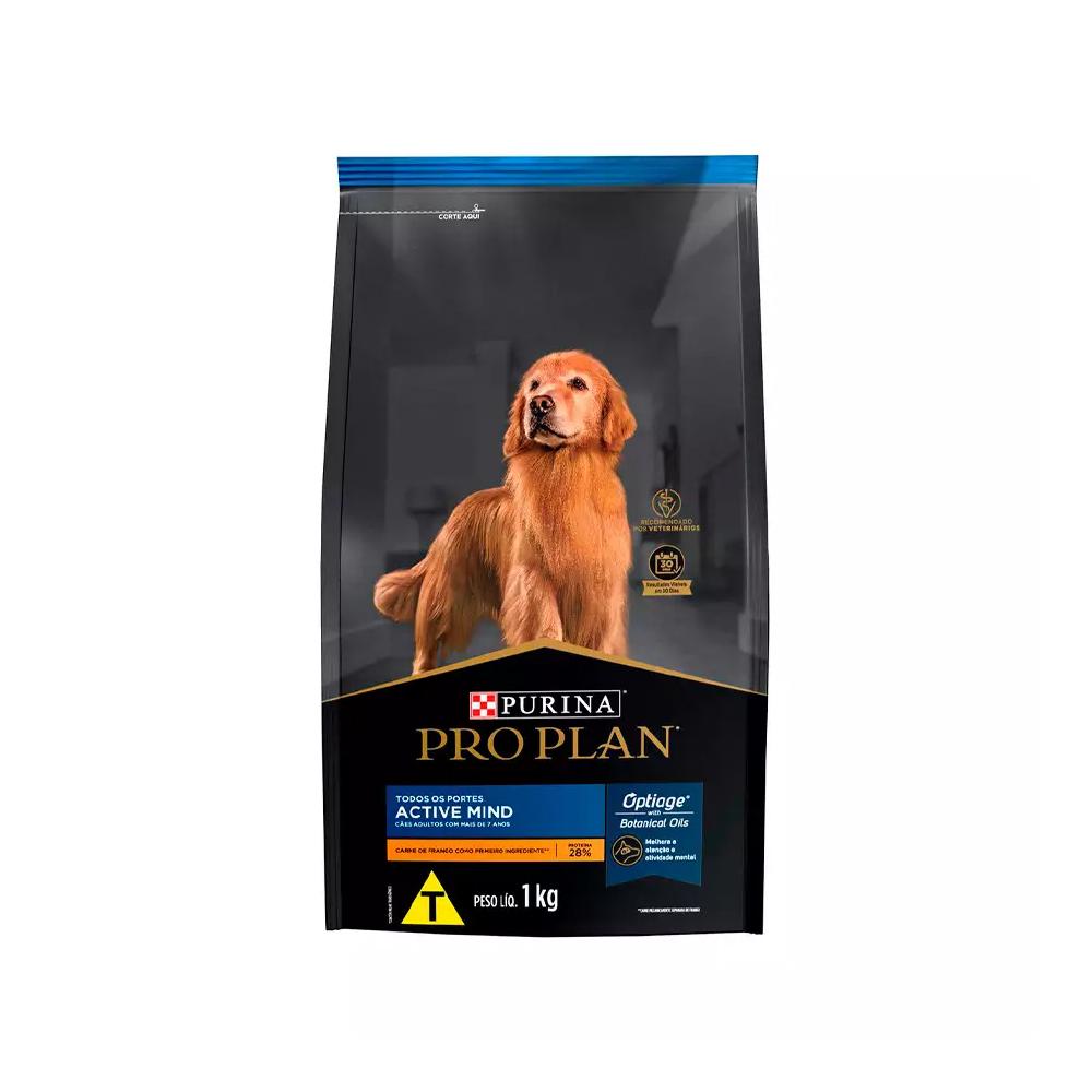 Ração ProPlan Active Mind para Cães Adultos 7+ Sabor Frango 1kg