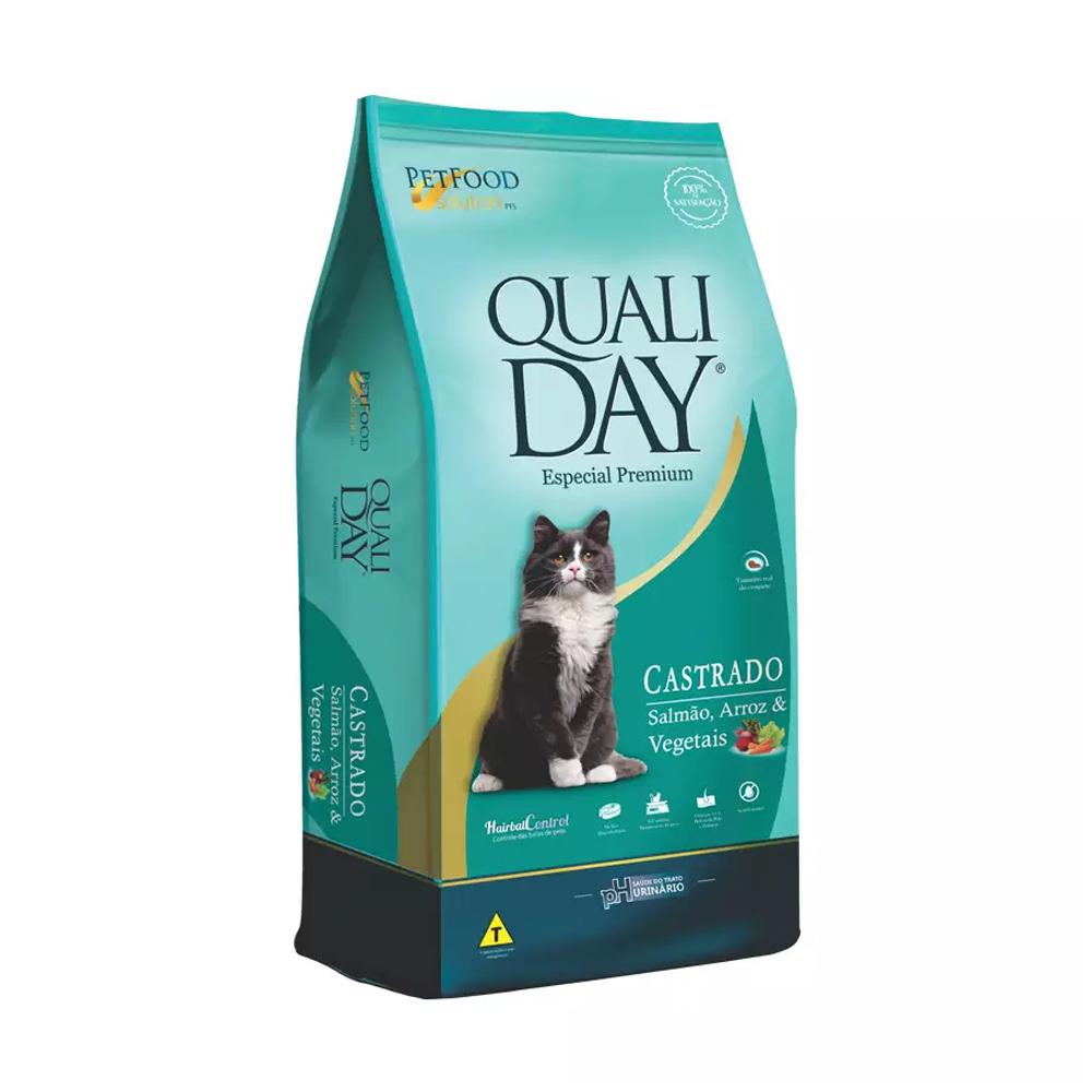 QUALIDAY CAT CASTRADO SALMÃO 3KG