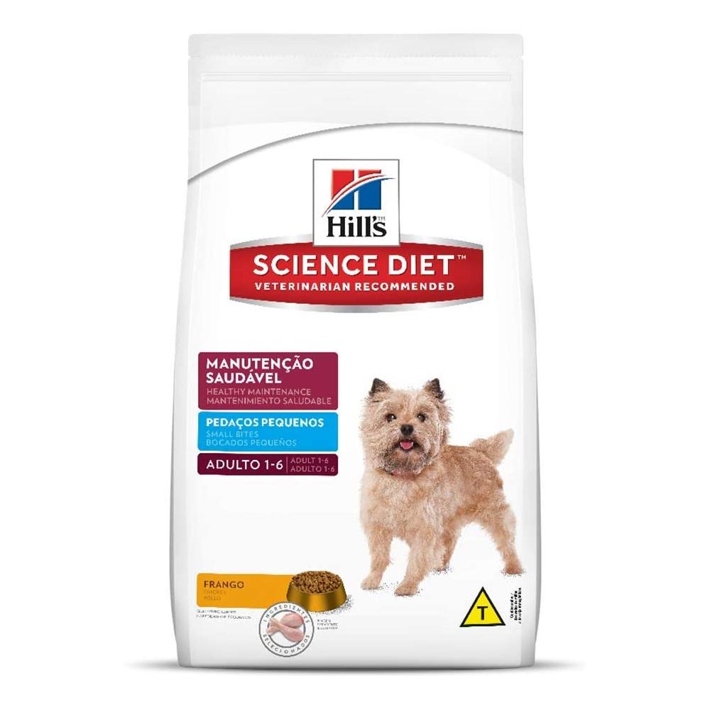 Ração Hills Science Diet para Cães Adultos Pedaços Pequenos 1kg