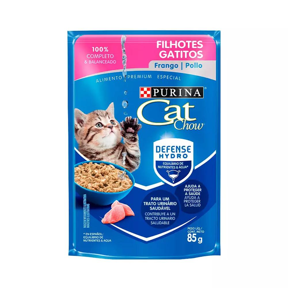 Ração Úmida Cat Chow Sachê para Gatos Filhotes Sabor Frango ao Molho 85g