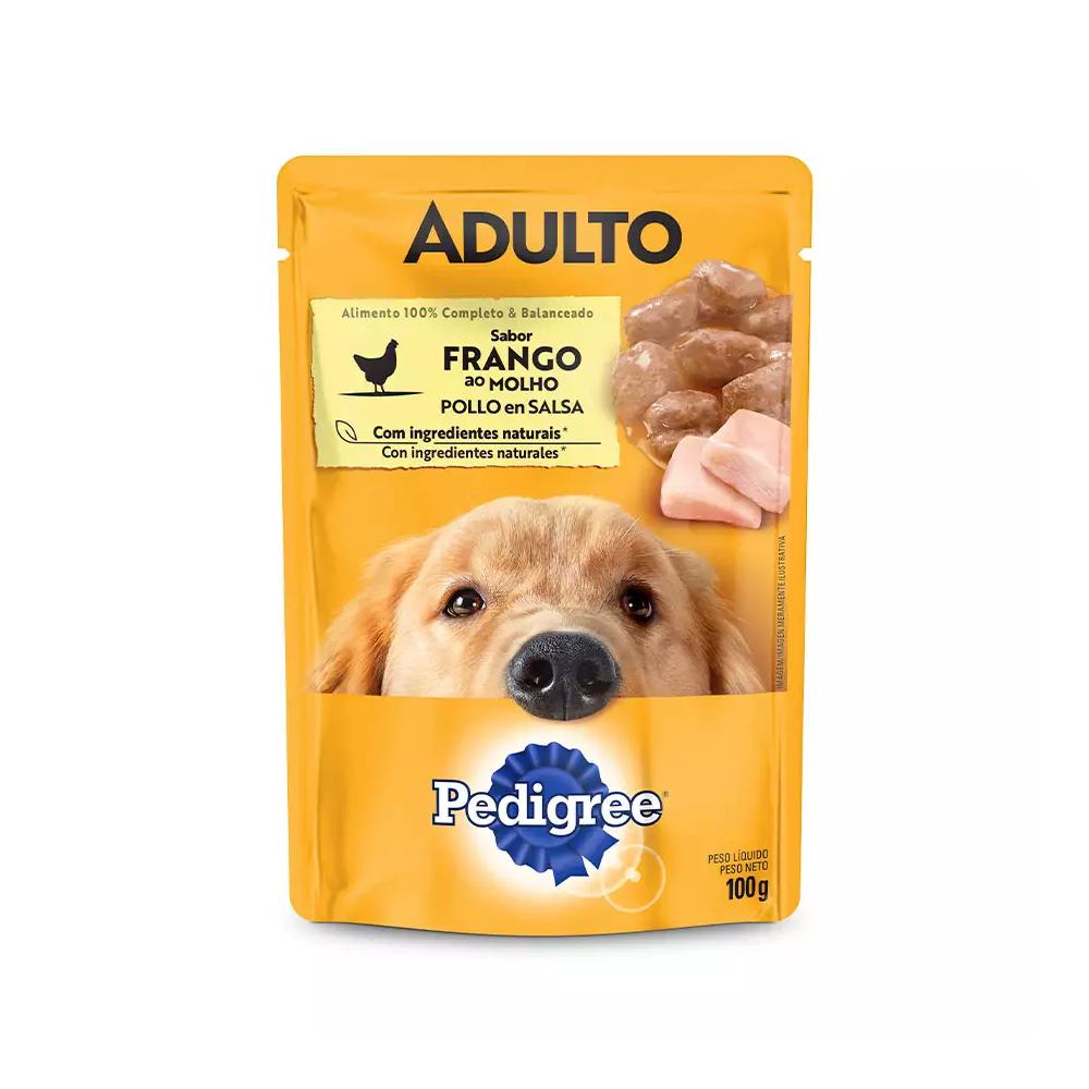 Ração Úmida Pedigree Sachê para Cães Adultos Sabor Frango ao Molho 100g