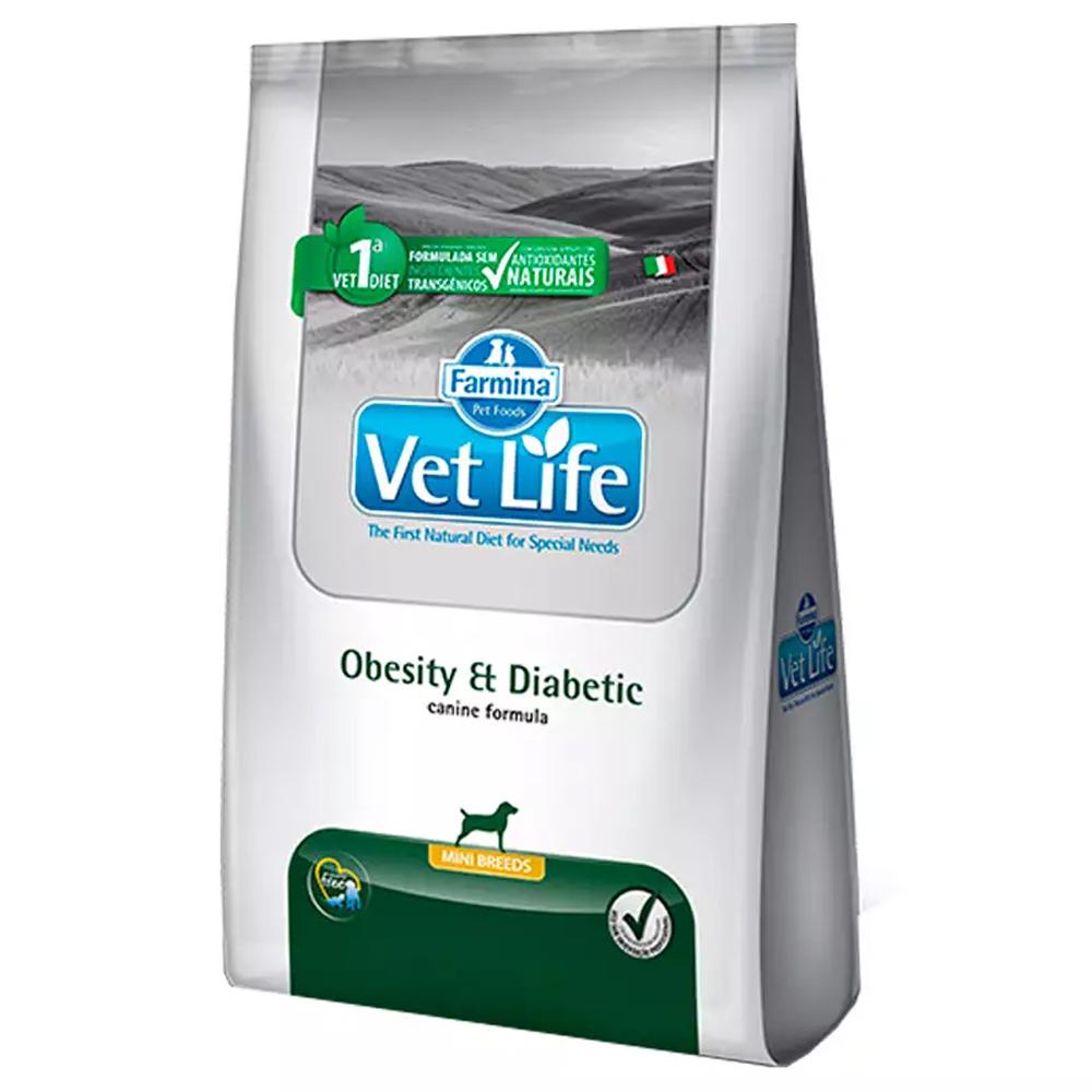 Ração Vet Life Natural Obesity e Diabetic para Cães Adultos Mini 10,1kg