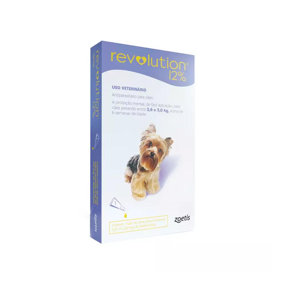 Revolution 12% para Cães de 2,6kg a 5kg 0,25ml