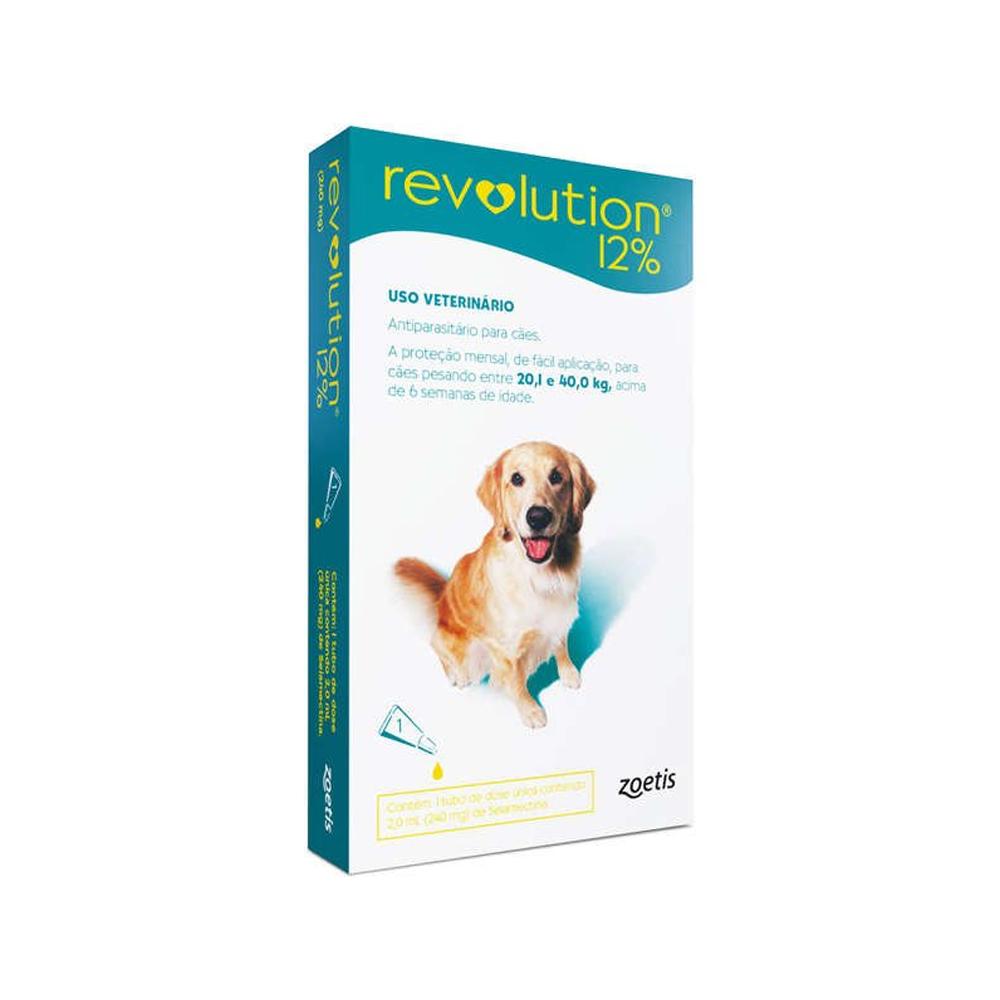Revolution 12% para Cães de 20,1kg a 40kg 2ml