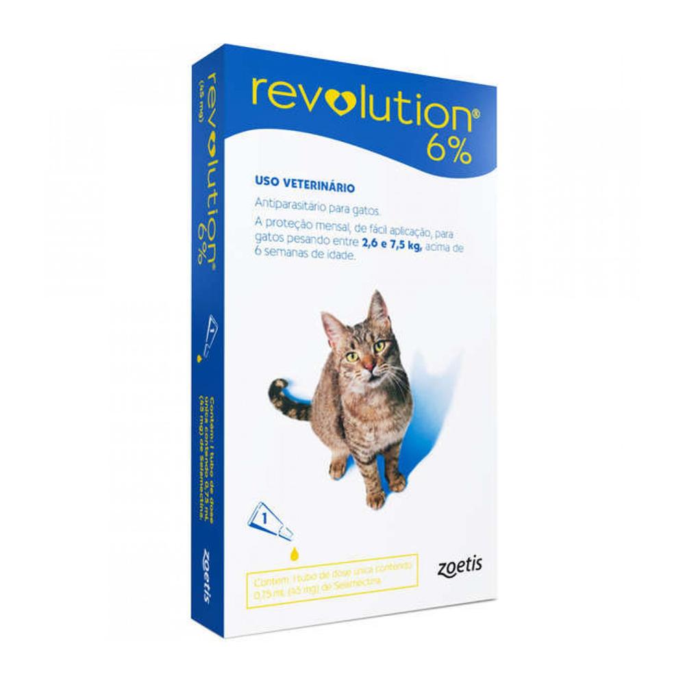 REVOLUTION 6% GATOS 0,75ML
