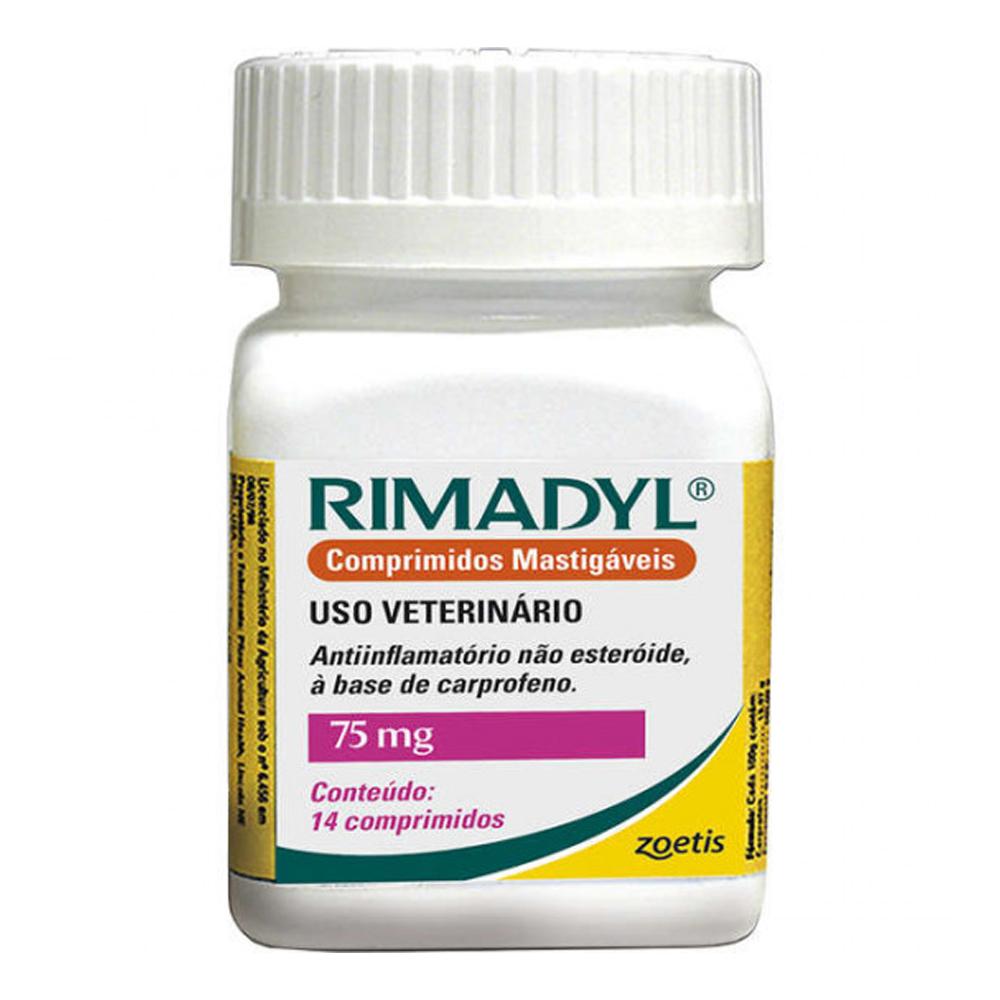 Rimadyl Zoetis 75mg 14 Comprimidos