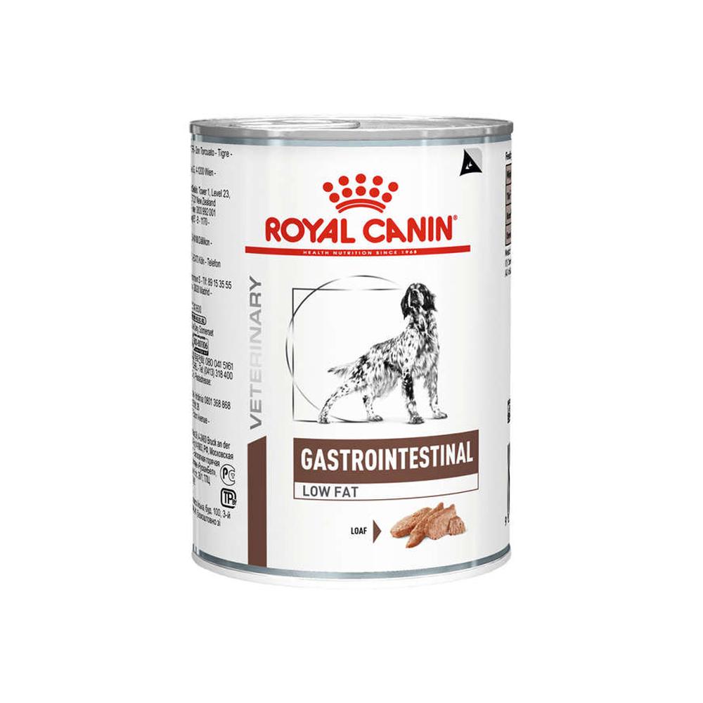 Ração Úmida Royal Canin Veterinary Gastrointestinal Low Fat para Cães Adultos 410g