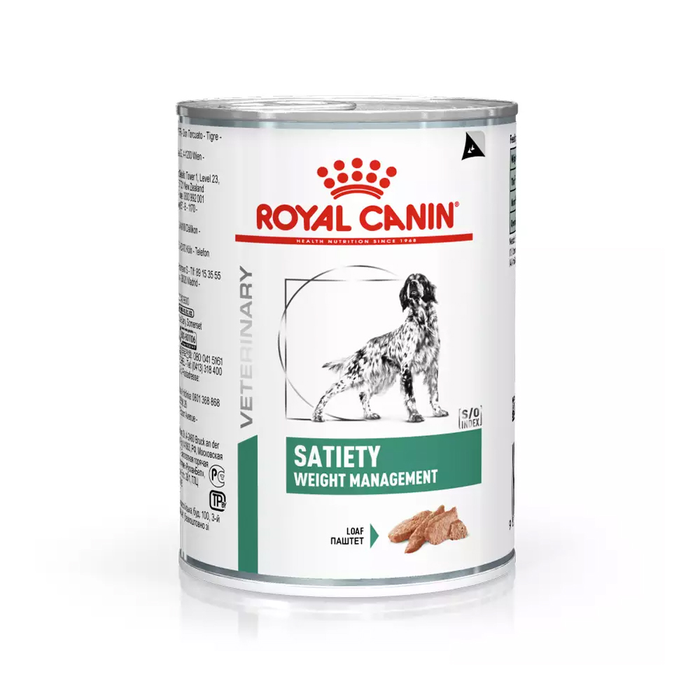 Ração Úmida Royal Canin Veterinary Satiety Support para Cães Adultos 410g