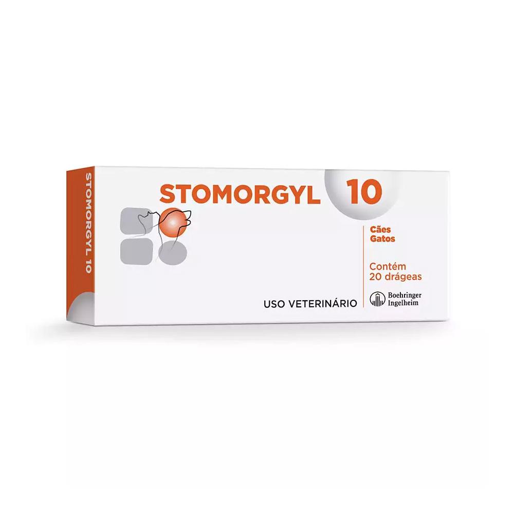 Stomorgyl Antibiótico para Cães e Gatos 10mg