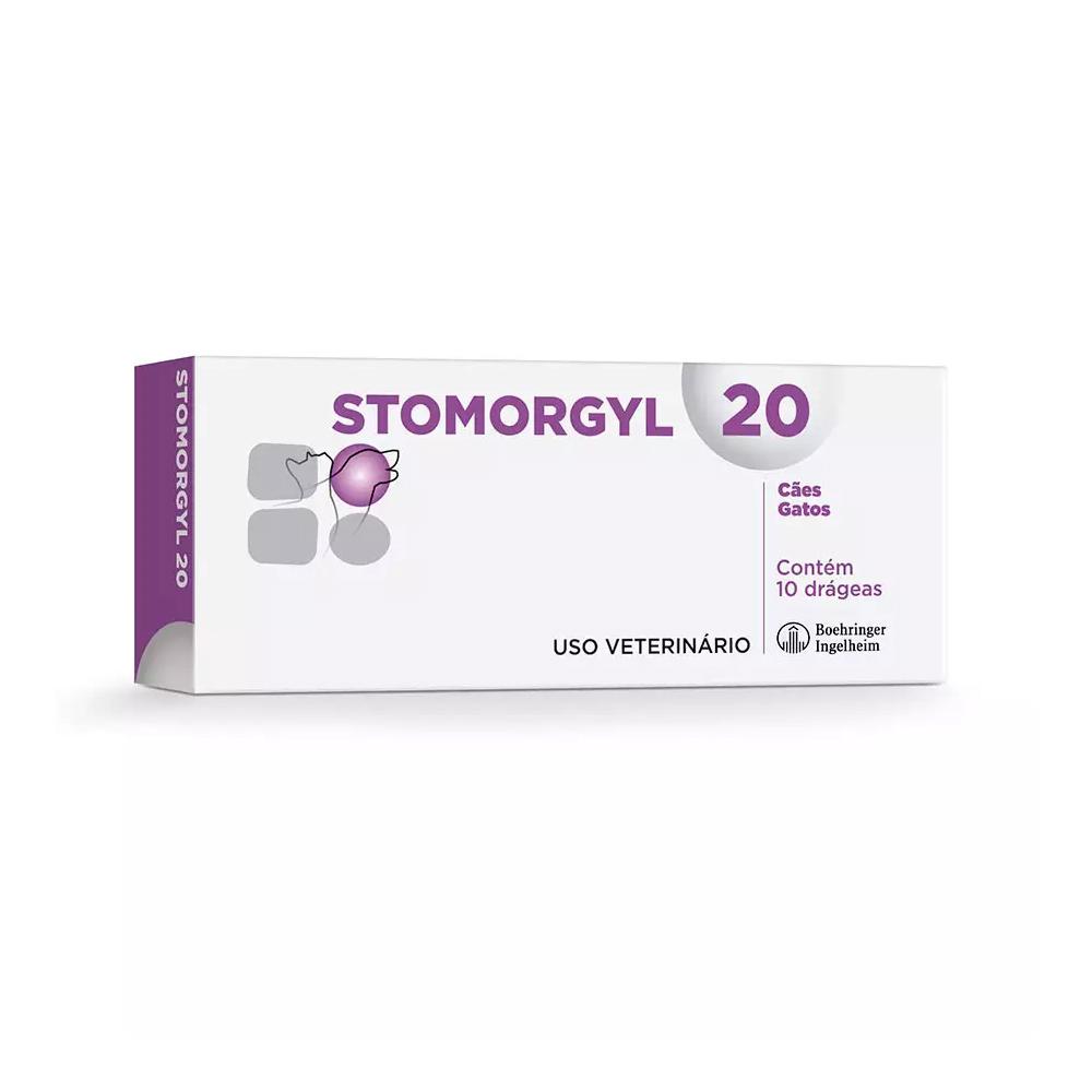 Stomorgyl Antibiótico para Cães e Gatos 20mg