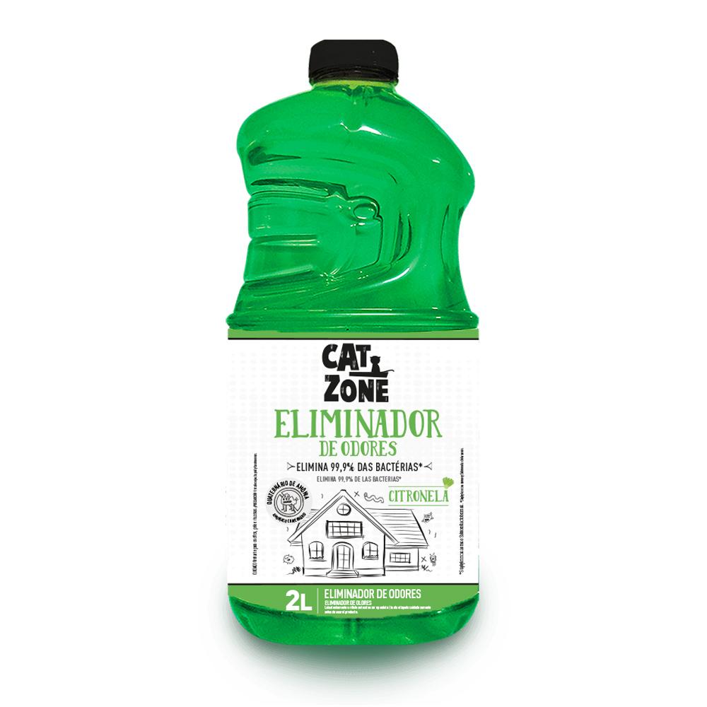 XÔ BACTÉRIAS ELIMINADOR DE ODORES CITRONELA CAT ZONE 2L