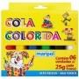 Cola Colorida Desenho Arte Trabalho Escolar 6 Cores