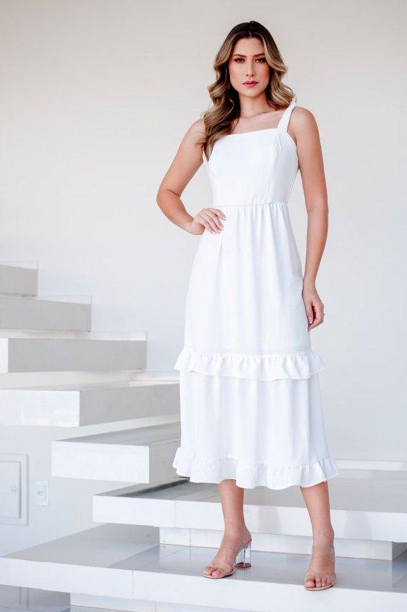 Vestido Alça Elástico