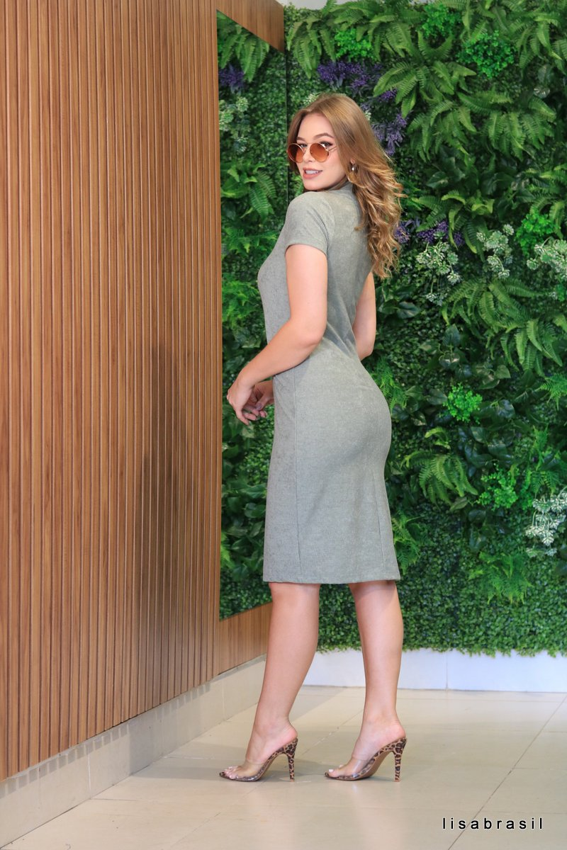 Vestido Ana Gola alta