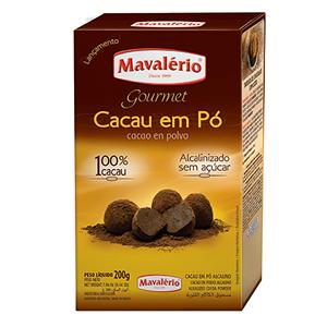 CACAU EM PÓ ALCALINO 200G MAVALERIO