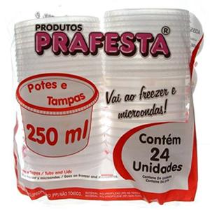 POTE REDONDO 250ML PRAFESTA C/24