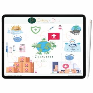 Adesivos Digital Fique Em Casa | Planner Digital, Caderno Digital | iPad ' Tablet | GoodNotes ' Noteshelf ' Notability