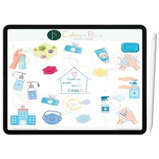 Adesivos Digital Se Puder...Fique Em Casa | Planner Digital, Caderno Digital | iPad ' Tablet | GoodNotes ' Noteshelf ' Notability