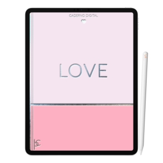 Caderno Digital Love Amor | Duas Matérias Interativo| iPad Tablet | Download Instantâneo