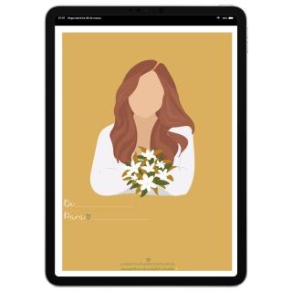 Cartão Comemorativo Digital | Dia Internacional da Mulher | Celular, iPad, Tablet | Download Gratuito
