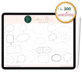 Kit Adesivos Digital para Mapa Mental Céu-Noturno | iPad Tablet | Download Instantâneo