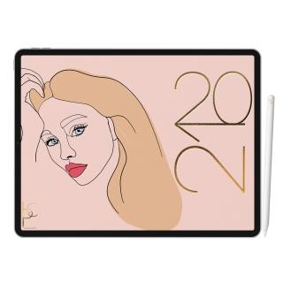 Planner Digital Feminine Rose | iPad Tablet | Download Instantâneo