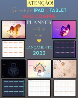 Planner Digital 2022 - Planejamento e Organização da Vida | iPad Tablet | GoodNotes, Noteshelf | Download Instantâneo