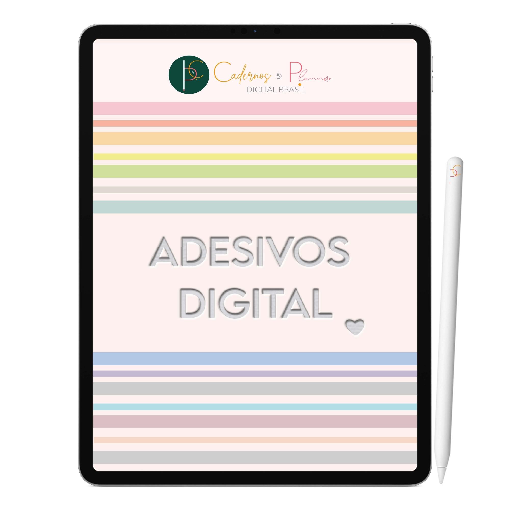 Adesivos Digital Color Pastel | Planner Digital, Caderno Digital | iPad ' Tablet | GoodNotes ' Xodo ' Noteshelf