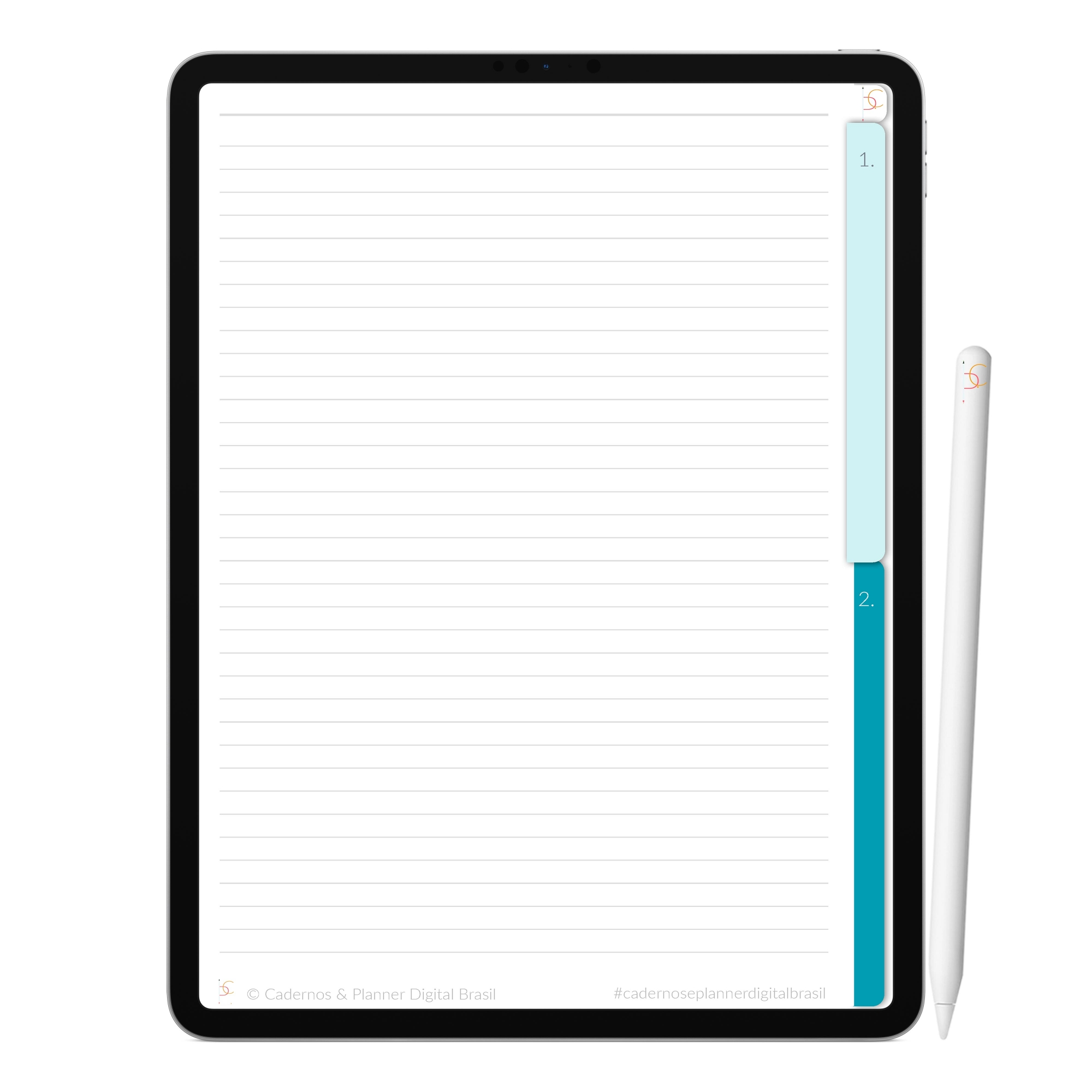 Caderno Digital Dream Sonhe | Duas Matérias Interativo| iPad Tablet | Download Instantâneo