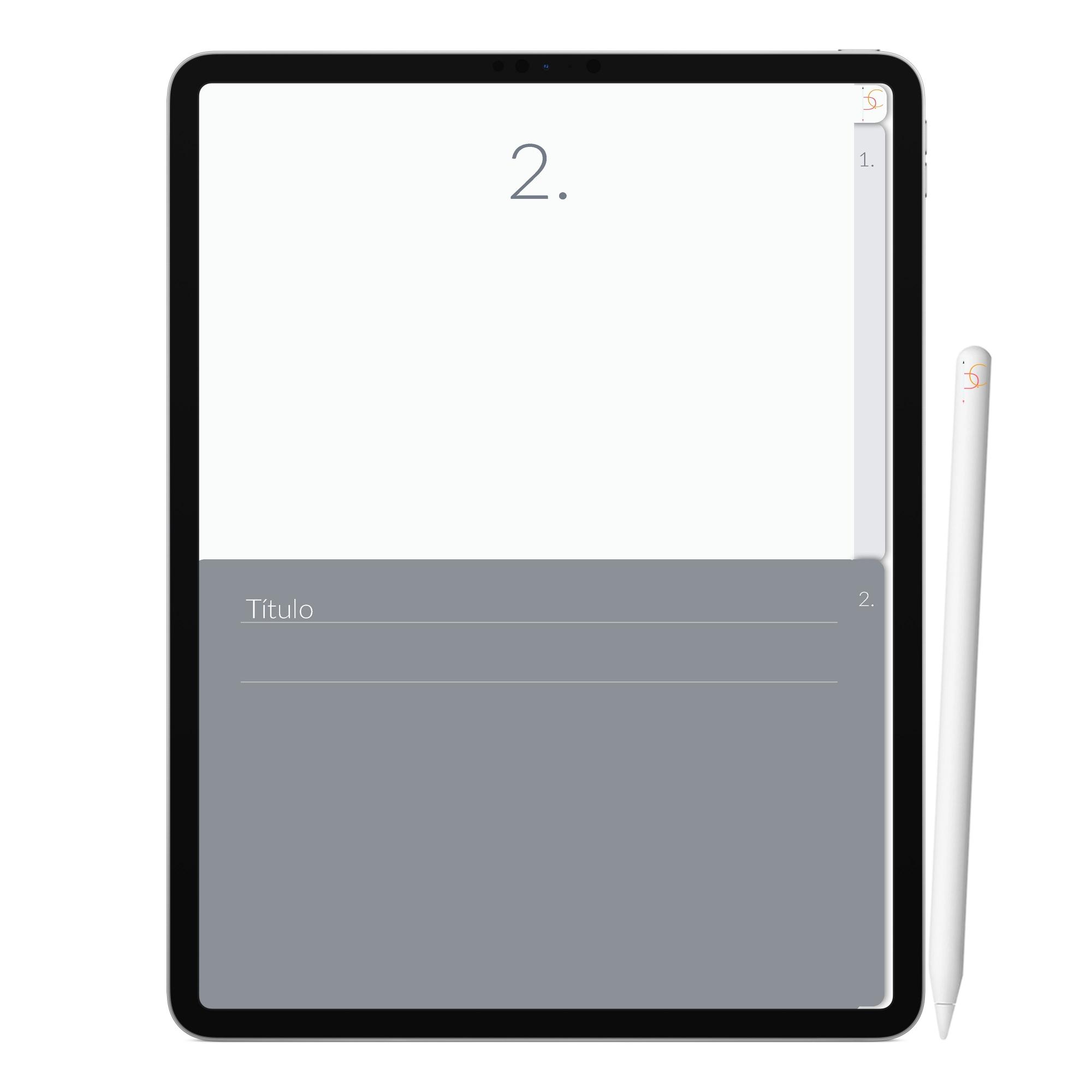Caderno Digital Goals Metas | Duas Matérias Interativo| iPad Tablet | Download Instantâneo