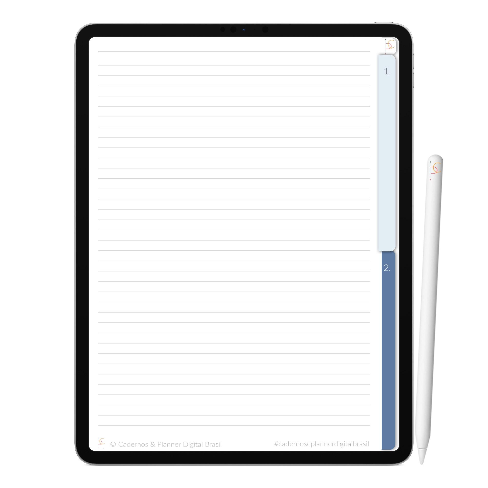 Caderno Digital Mindful Atento | Duas Matérias Interativo| iPad Tablet | Download Instantâneo
