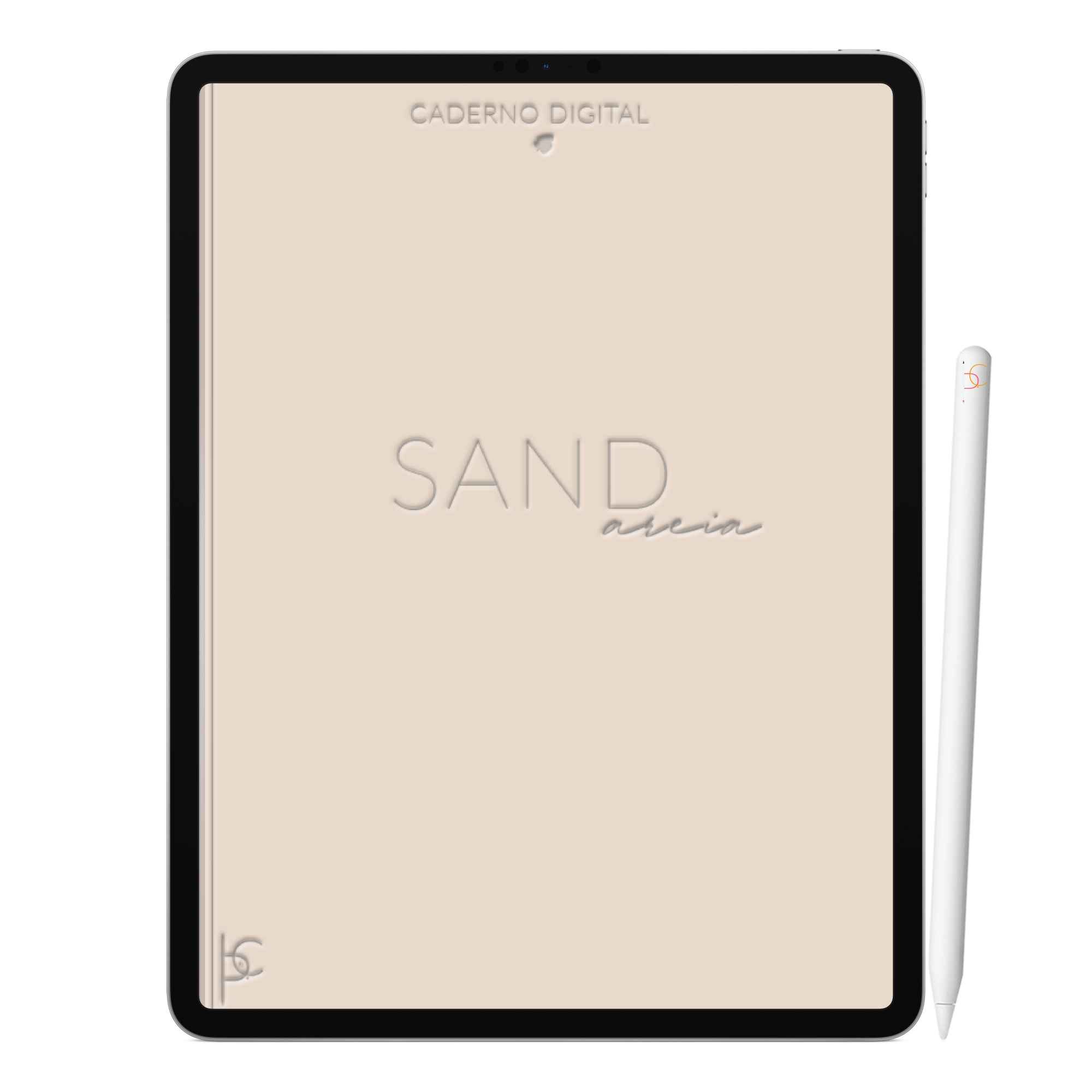 Caderno Digital Minimalista Sand Areia | Dez Divisórias Interativo| iPad Tablet | Download Instantâneo