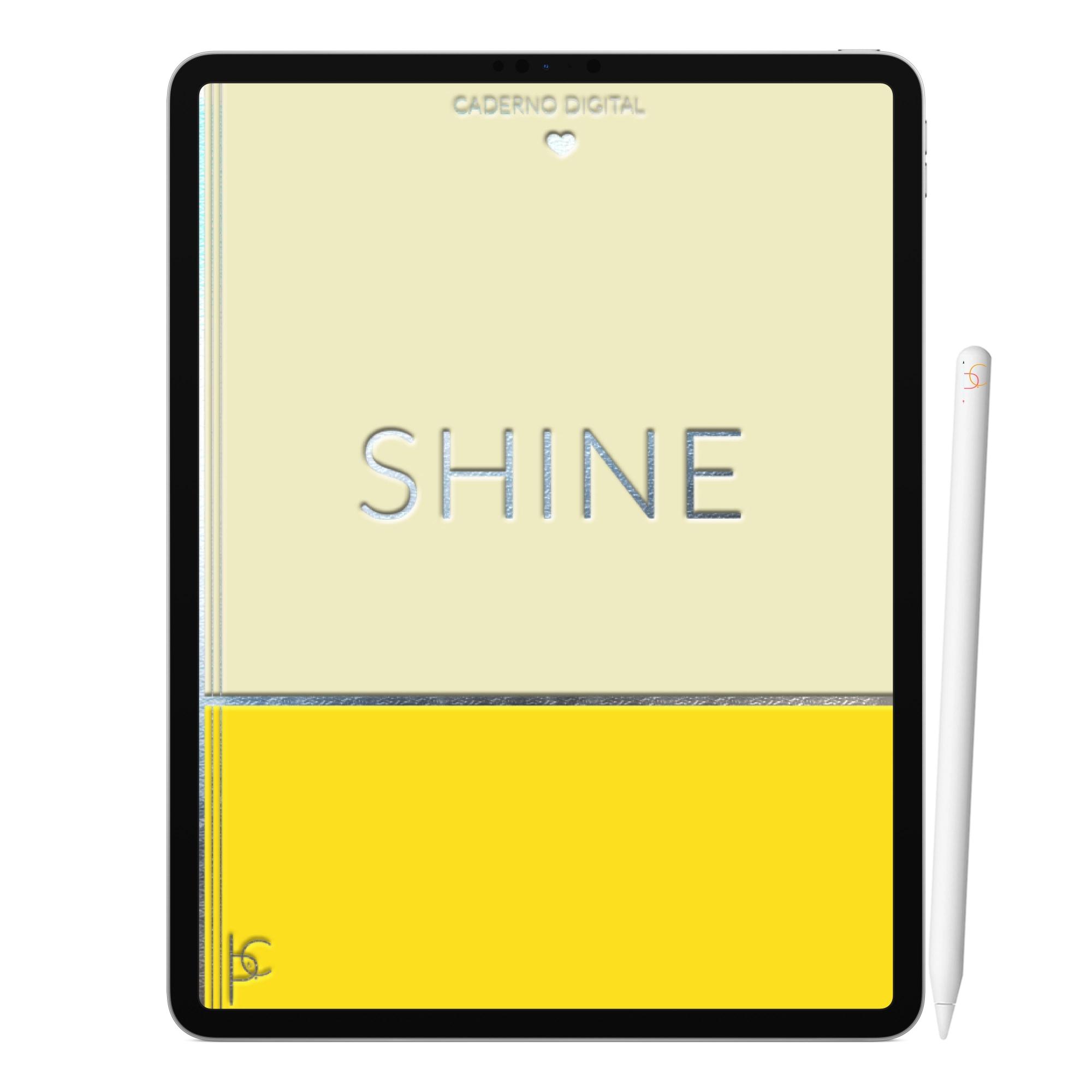 Caderno Digital Shine Brilhe | Duas Matérias Interativo| iPad Tablet | Download Instantâneo
