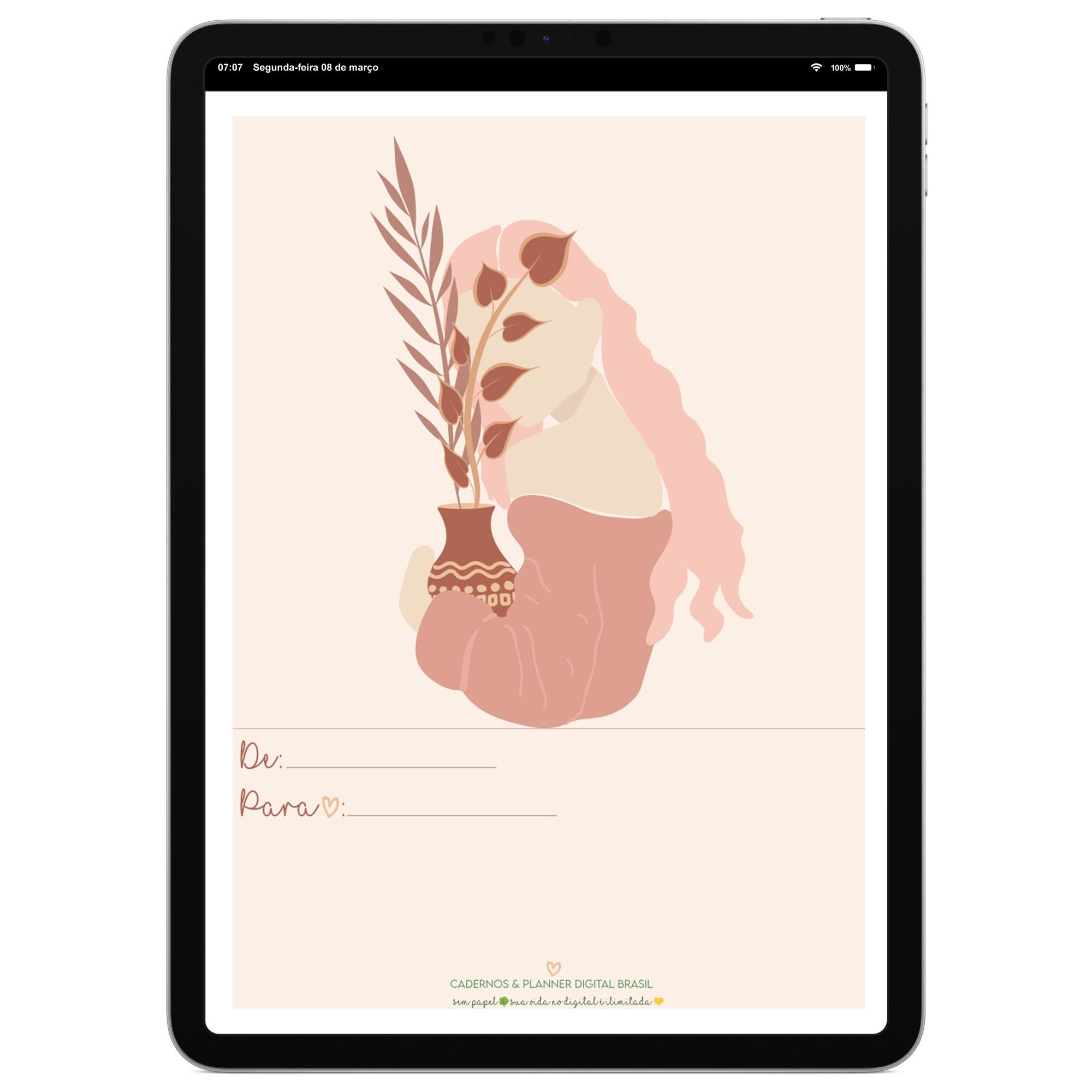 Cartão Comemorativo Digital   Dia Internacional da Mulher   Celular, iPad, Tablet   Download Gratuito